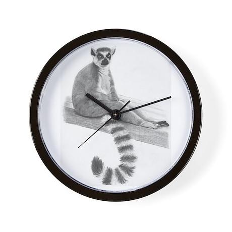 Lounging Lemur Wall Clock