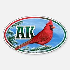 AK Alaska Cardinal Bird Wildlife Car Decal