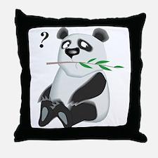 puzzled panda Throw Pillow