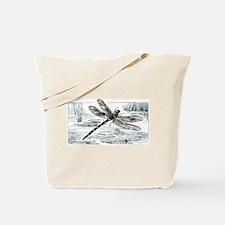 Dragonfly Over Pond Art 3 Tote Bag