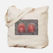 Rhodesia KGV Double Heads One Pound Tote Bag