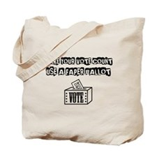 Use A Paper Ballot Tote Bag