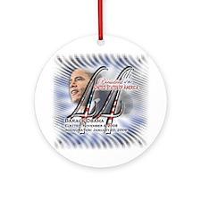 44th President - (blue) - Ornament (Round)