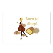 Born to Shop!!! Postcards (Package of 8)