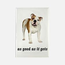 Good Bulldog Rectangle Magnet