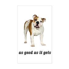 Good Bulldog Rectangle Decal