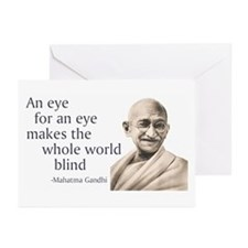 """""""An eye for an eye makes the Greeting Cards (Pack"""