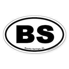 Bonita Springs BS Euro Oval Decal