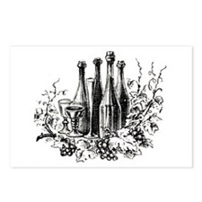 Wine Bottles Postcards (Package of 8)