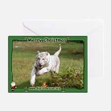 #001 White Tiger Christmas Card