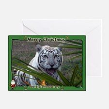 #006 White Tiger Christmas Card