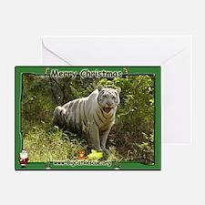 #008 White Tiger Christmas Card