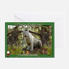 #011 White Tiger Christmas Card