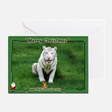 #018 White Tiger Christmas Card