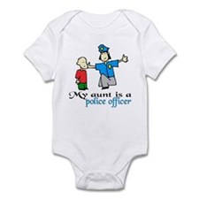 My aunt is a police officer Infant Bodysuit