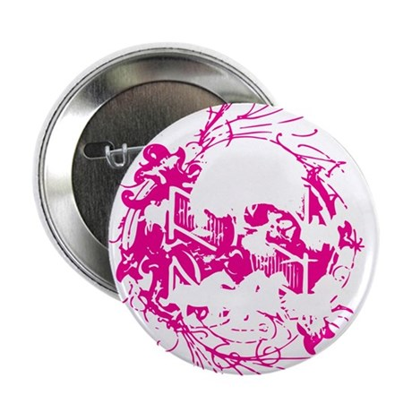 """Girls Love Skulls and Ponies 2.25"""" Button"""
