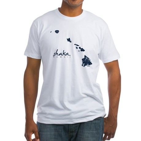 Shaka Hawaii Fitted T-Shirt (white/navy)