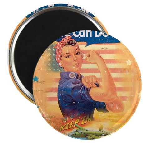 "Rosie the Riveter 2.25"" Magnet (10 pack)"