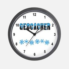 Snow Capped Geocacher Wall Clock