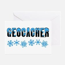 Snow Capped Geocacher Greeting Card
