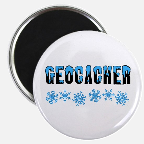 Snow Capped Geocacher Magnet