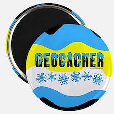 Snow Capped Geocacher Magnet
