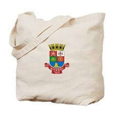 Funny Brazil coat of arms Tote Bag