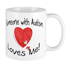 Someone With Autism Loves Me Small Mugs