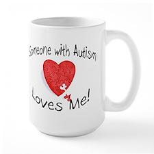 Someone With Autism Loves Me Ceramic Mugs