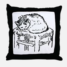 Napping Cat Throw Pillow