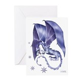 Dragon christmas Greeting Cards (20 Pack)