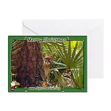 008 Panther Christmas Greeting Card