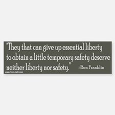 Bumper Sticker - Franklin quote on liberty