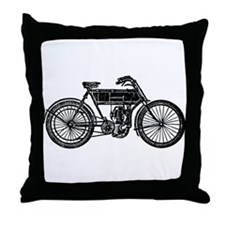Motored Bicycle Throw Pillow