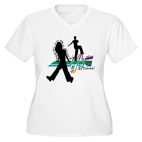 Get Your Groove On Women's Plus Size V-Neck T-Shir
