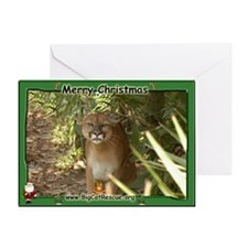 002 Mountain Lion Christmas Card