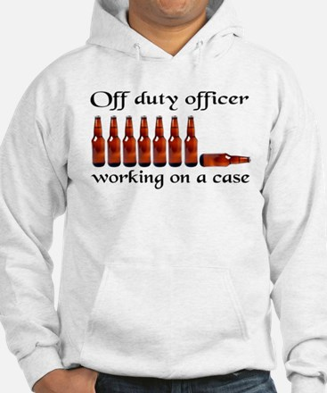Off duty officer working on a Jumper Hoody