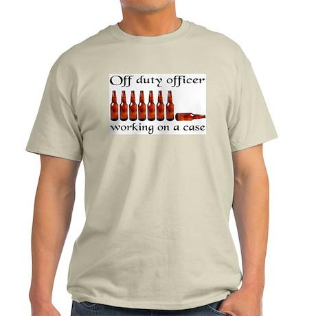Off duty officer working on a Light T-Shirt