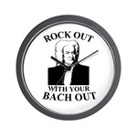 Rock Our With Your Bach Out Wall Clock
