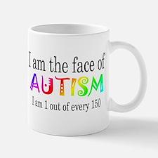 I Am The Face Of Autism Mug