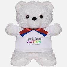 I Am The Face Of Autism Teddy Bear