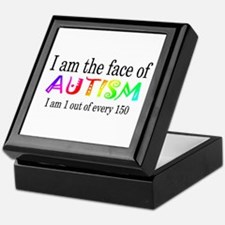 I Am The Face Of Autism Keepsake Box