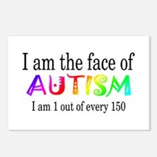 I Am The Face Of Autism Postcards (Package of 8)