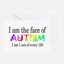 I Am The Face Of Autism Greeting Card