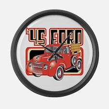 1945 Ford Pickup Large Wall Clock