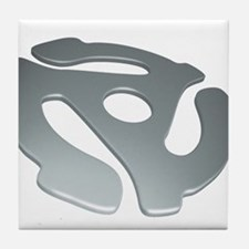 Silver 3D 45 RPM Adapter Tile Coaster