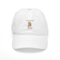 author and writers joke Baseball Cap