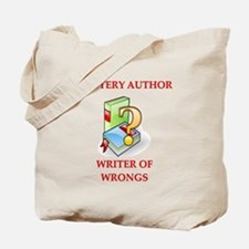 author and writers joke Tote Bag
