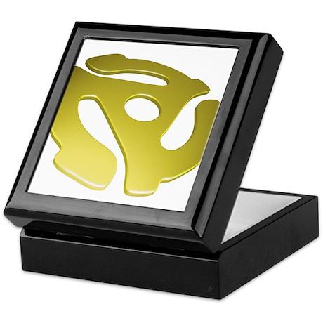 Gold 3D 45 RPM Adapter Keepsake Box