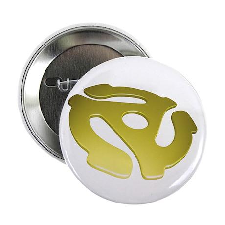 """Gold 3D 45 RPM Adapter 2.25"""" Button"""
